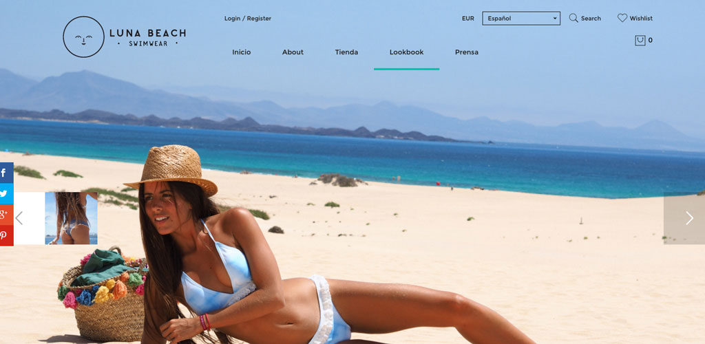 Luna Beach Website Design