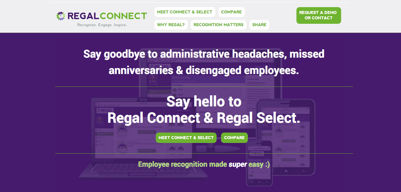 Regal Connects Website Design