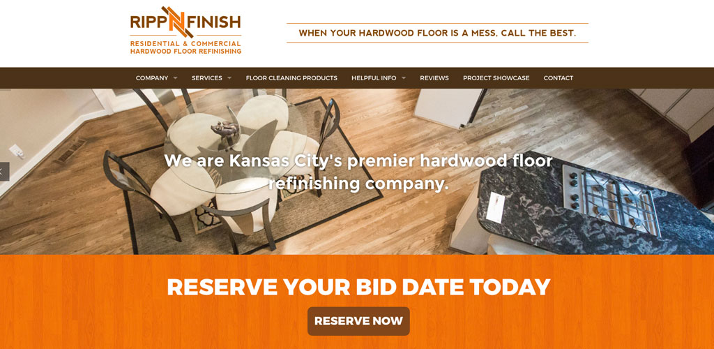 RippnFinish Hardwood Flooring Website Design