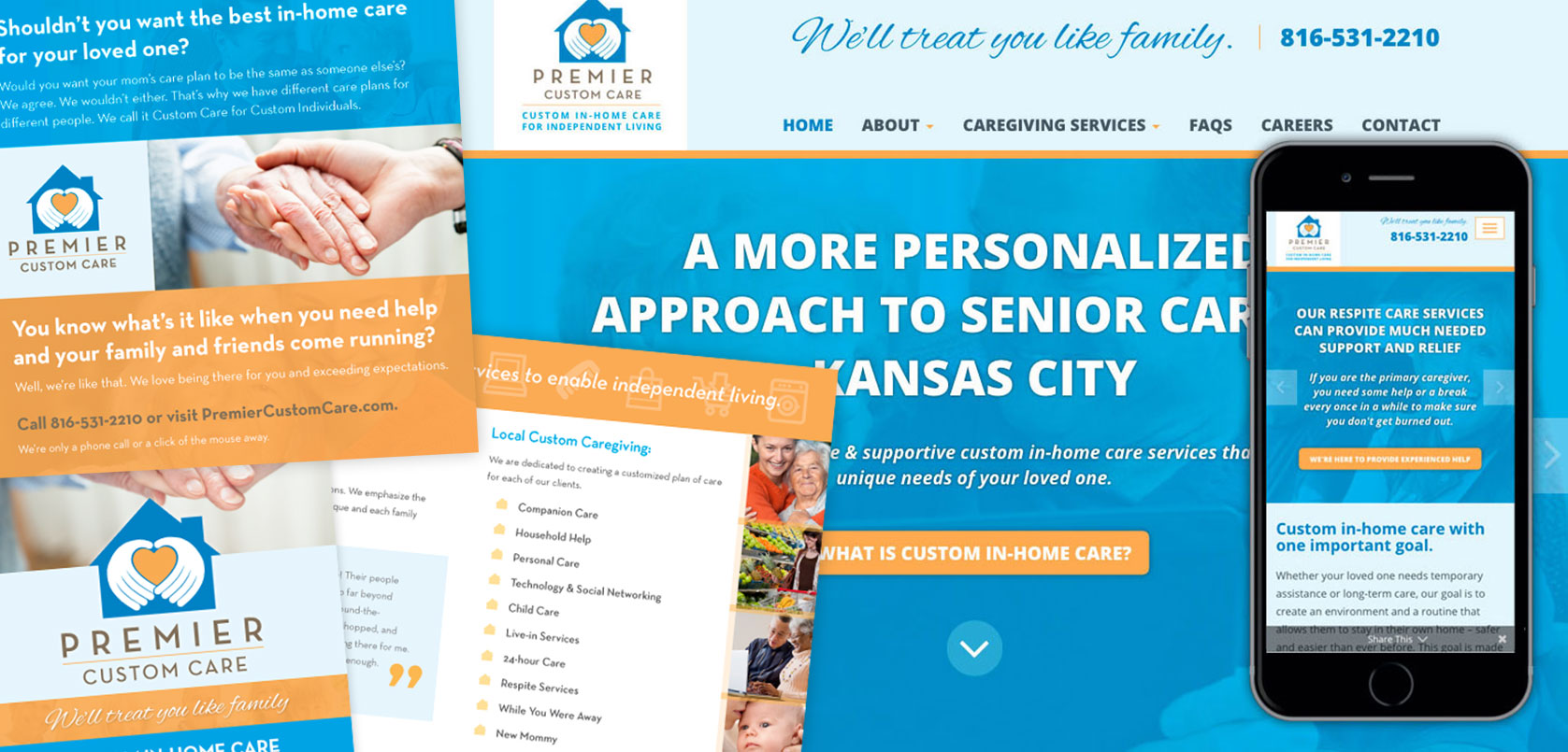 Premier Custom Care Website Design